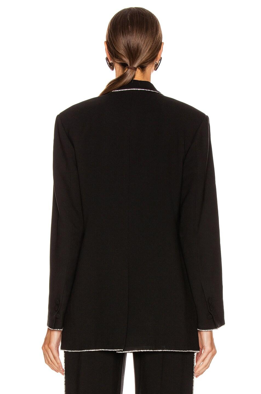 Image 3 of MSGM Crystal Trimmed Blazer in Black