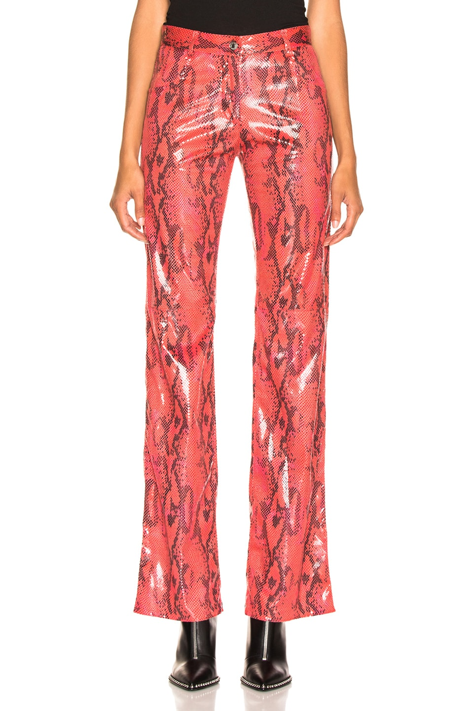 Image 1 of MSGM Snakeskin Pants in Red