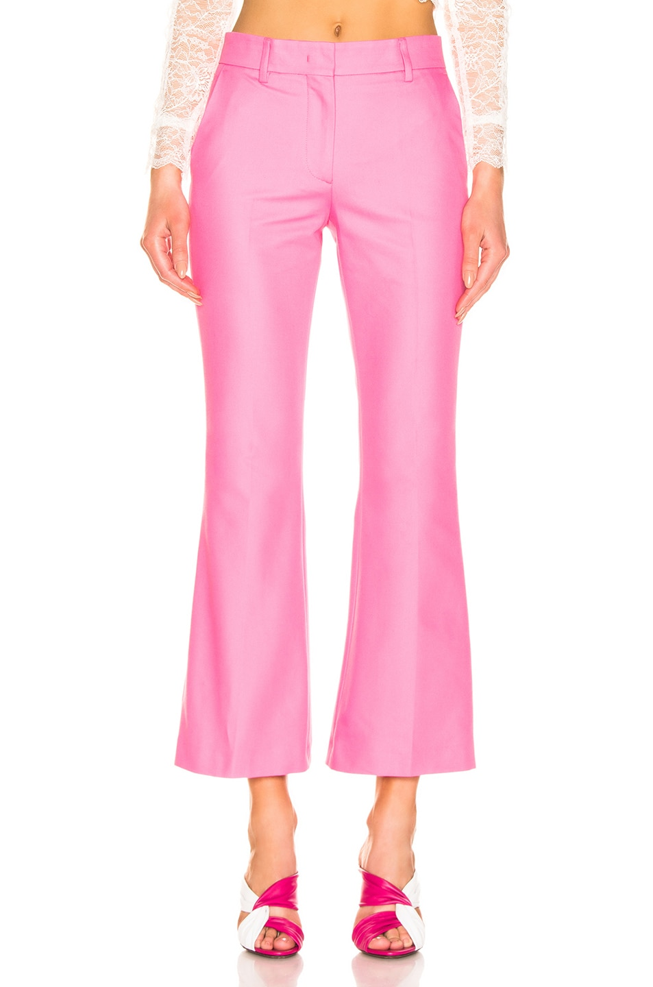 Image 1 of MSGM Tailored Crop Pant in Pink