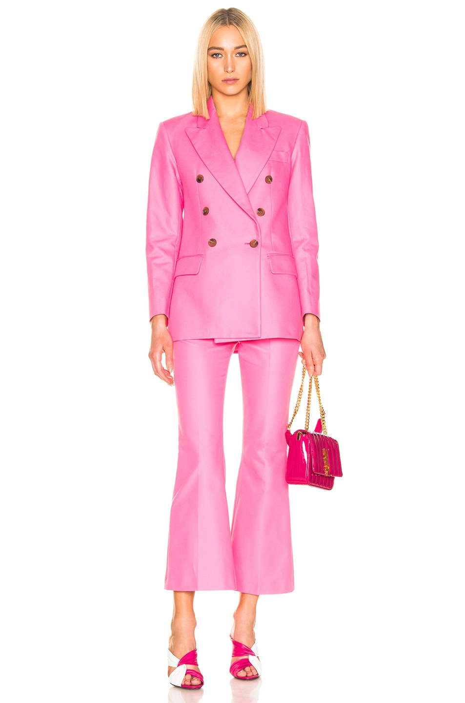 Image 4 of MSGM Tailored Crop Pant in Pink