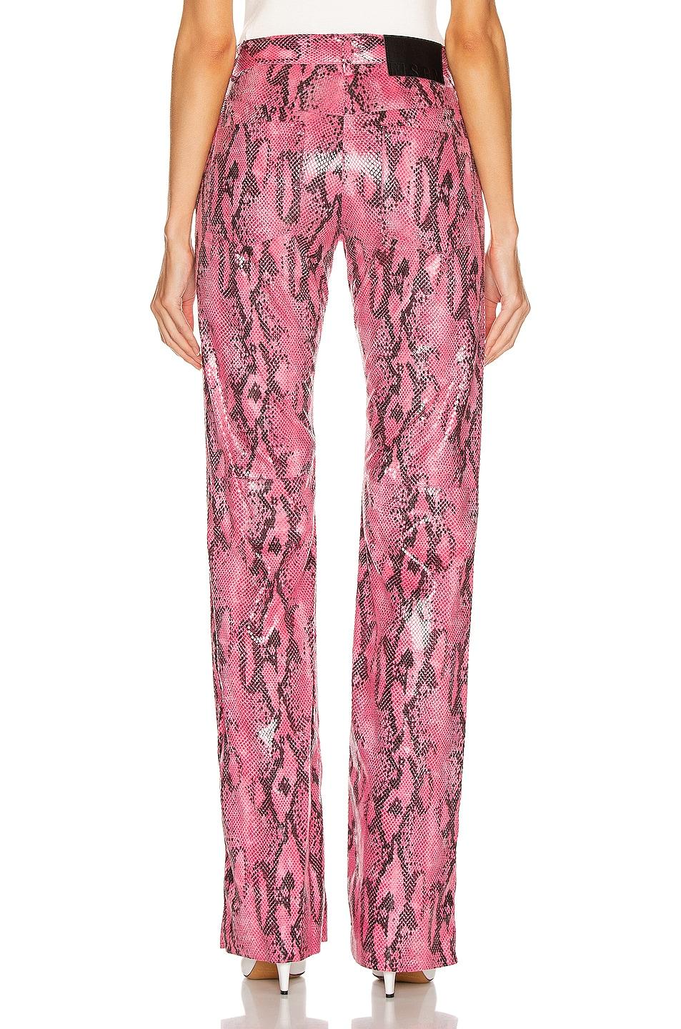 Image 3 of MSGM Snake Print Pant in Fuchsia