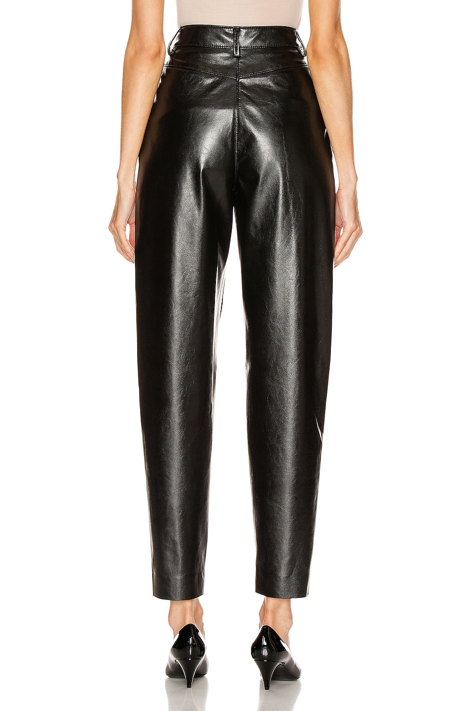 Image 3 of MSGM Patent Pant in Black