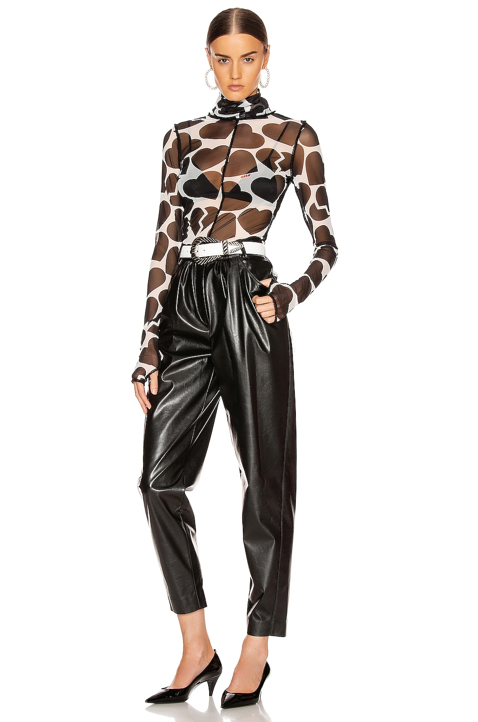 Image 4 of MSGM Patent Pant in Black