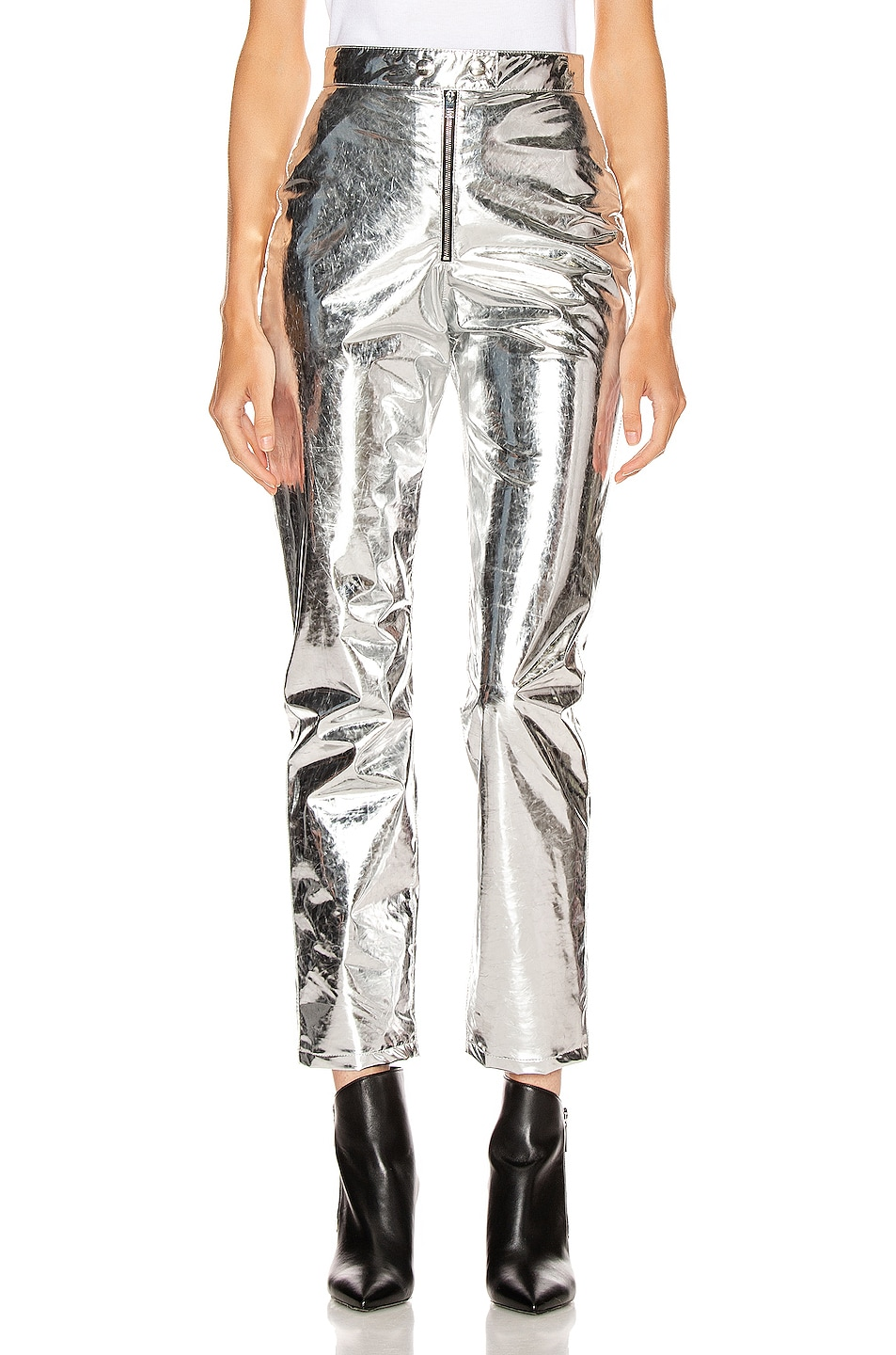 Image 1 of MSGM Patent Pant in Silver