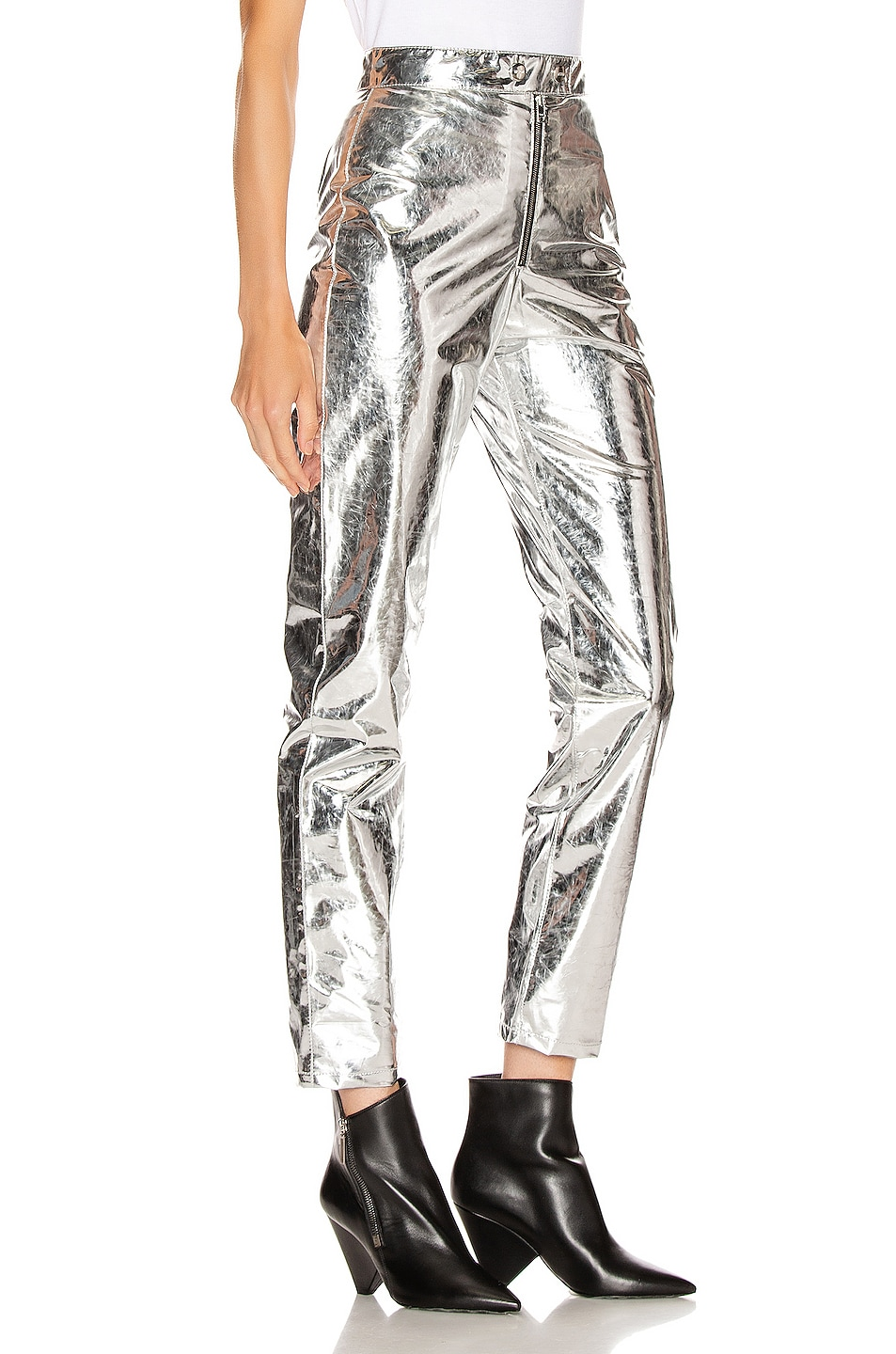 Image 2 of MSGM Patent Pant in Silver