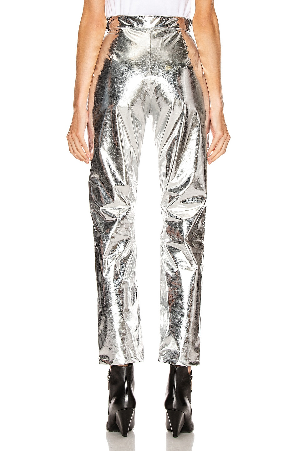 Image 3 of MSGM Patent Pant in Silver