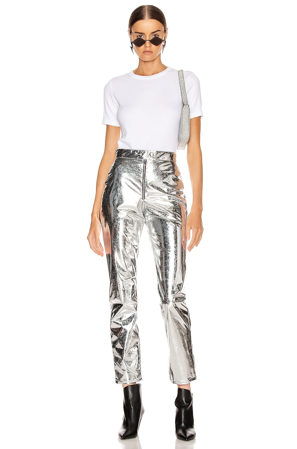 Image 4 of MSGM Patent Pant in Silver