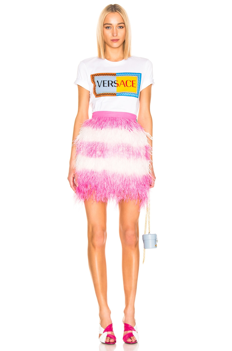 Image 4 of MSGM Feather Skirt in Pink