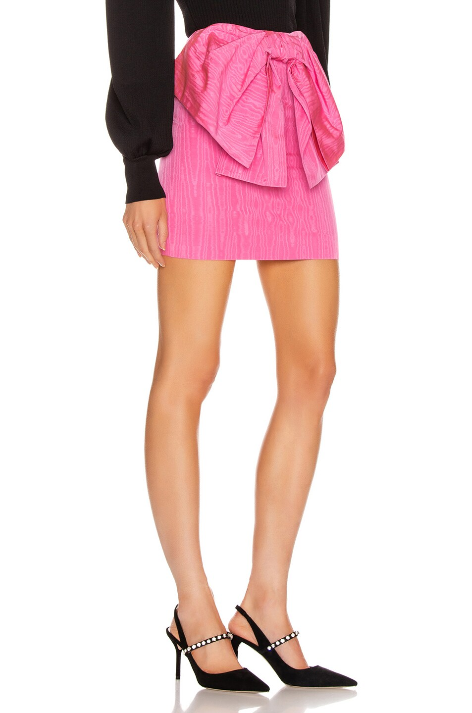 Image 2 of MSGM Bow Mini Skirt in Fuchsia