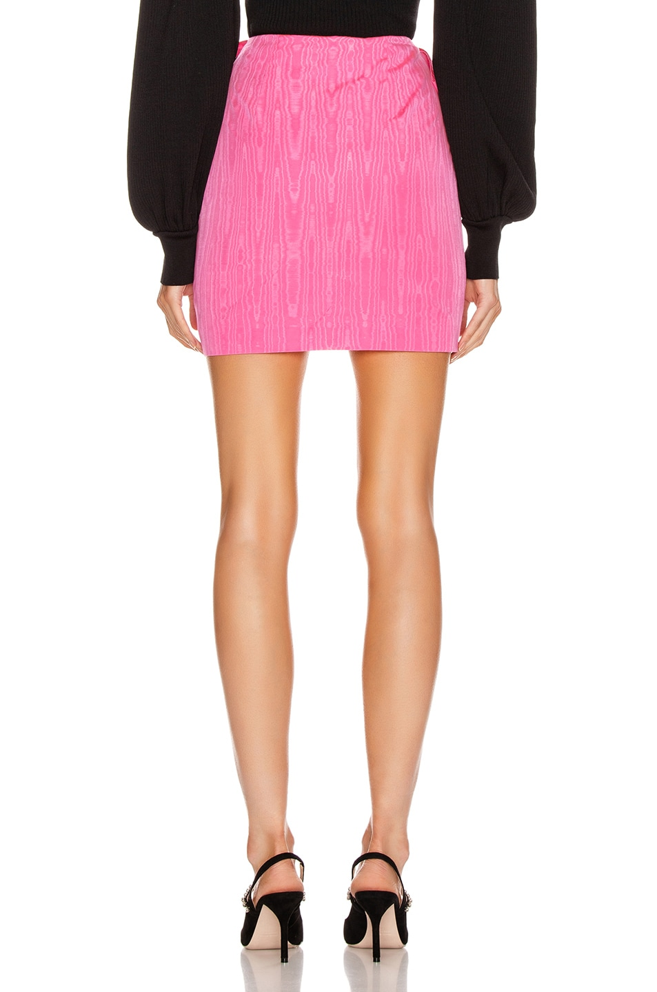 Image 3 of MSGM Bow Mini Skirt in Fuchsia