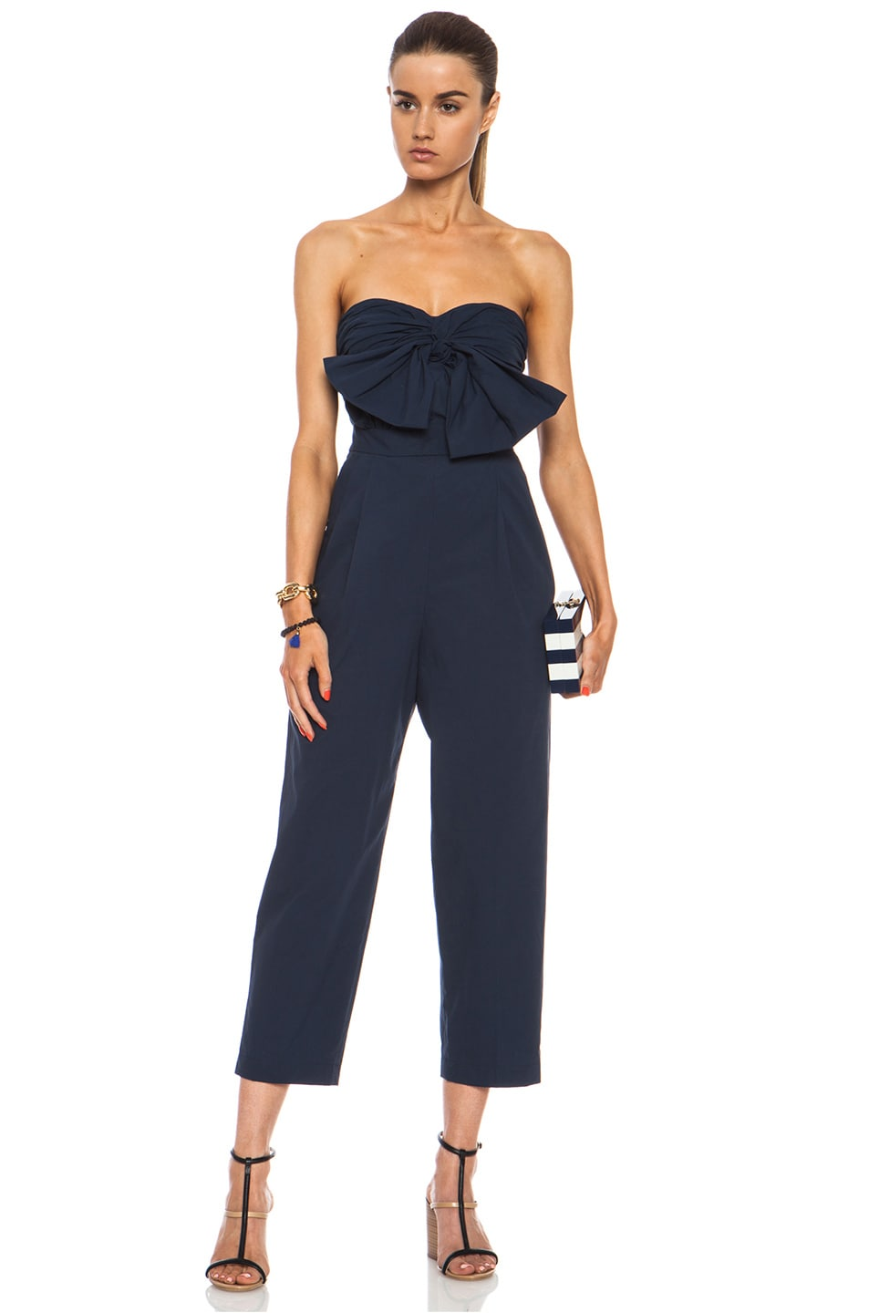 Image 1 of MSGM Cotton Jumpsuit in Navy