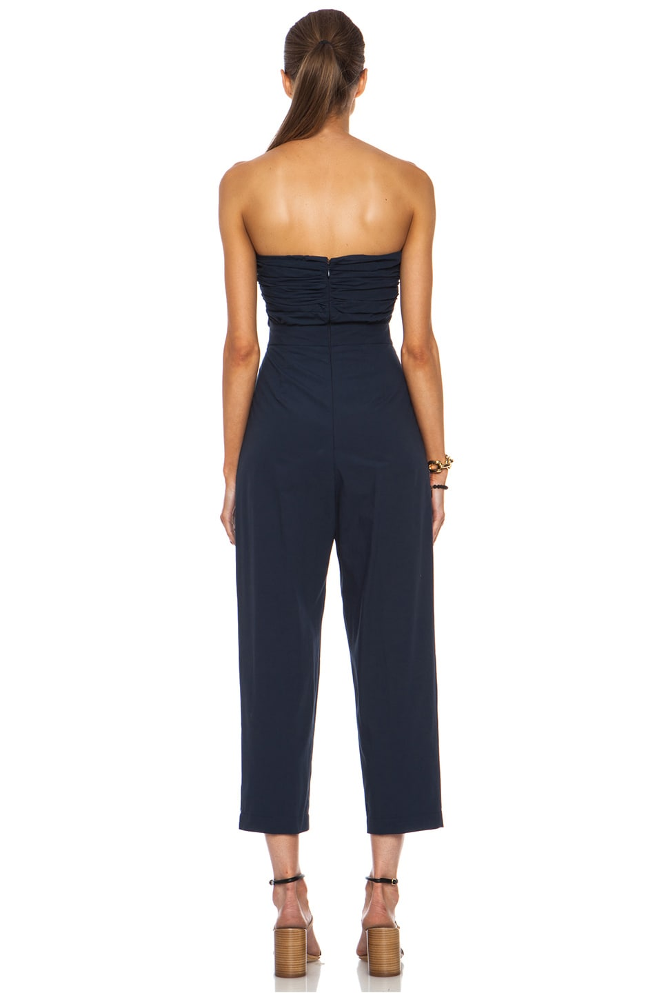 Image 4 of MSGM Cotton Jumpsuit in Navy