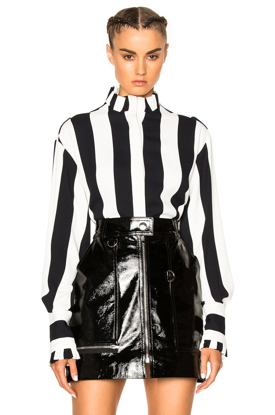 Image 1 of MSGM Striped Top in Black & White