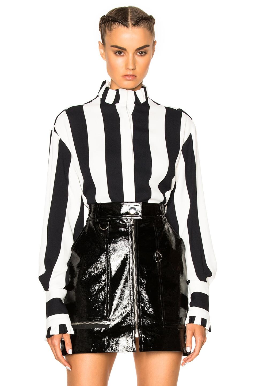 Image 1 of MSGM Striped Top in Black & White