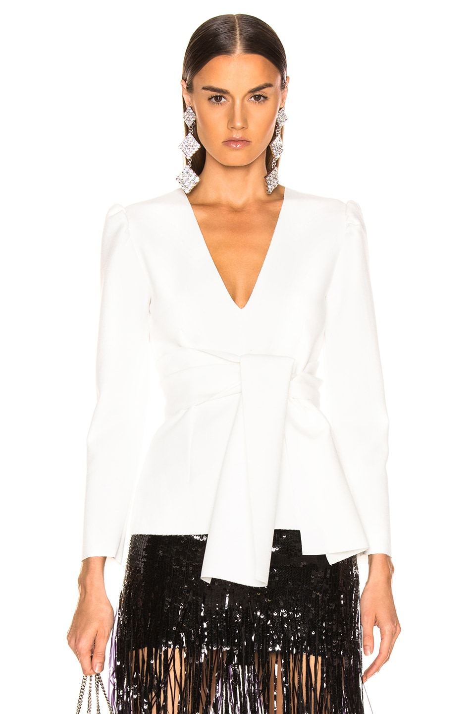 Image 1 of MSGM Crepe Blouse in White