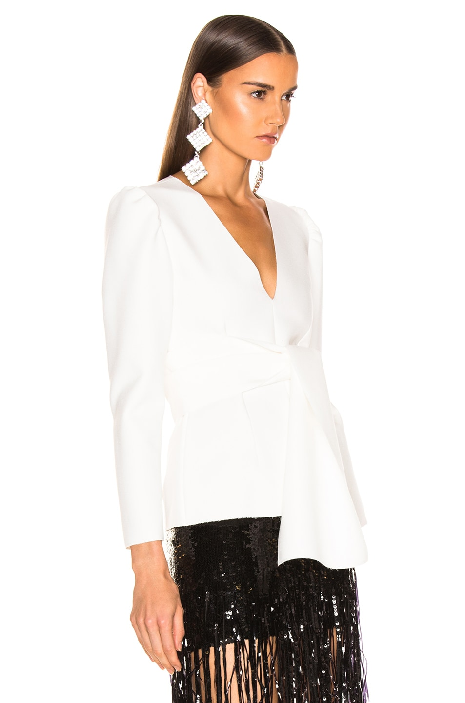 Image 2 of MSGM Crepe Blouse in White