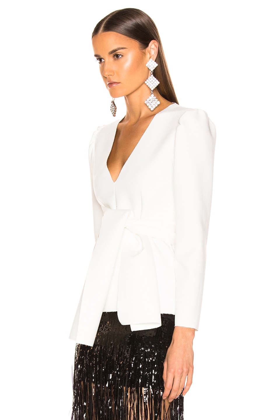 Image 3 of MSGM Crepe Blouse in White