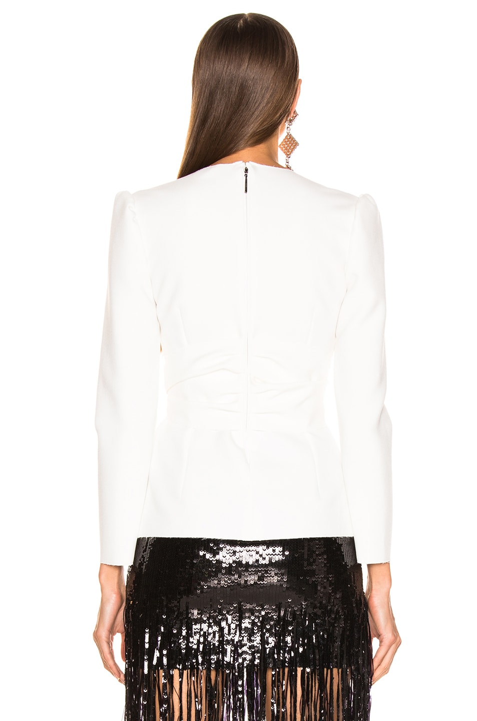 Image 4 of MSGM Crepe Blouse in White