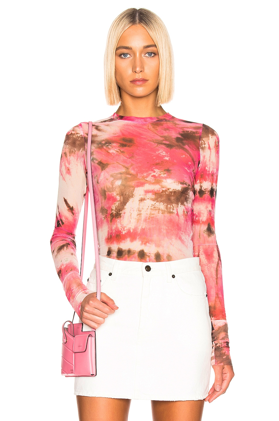 Image 1 of MSGM Sheer Blouse in Pink