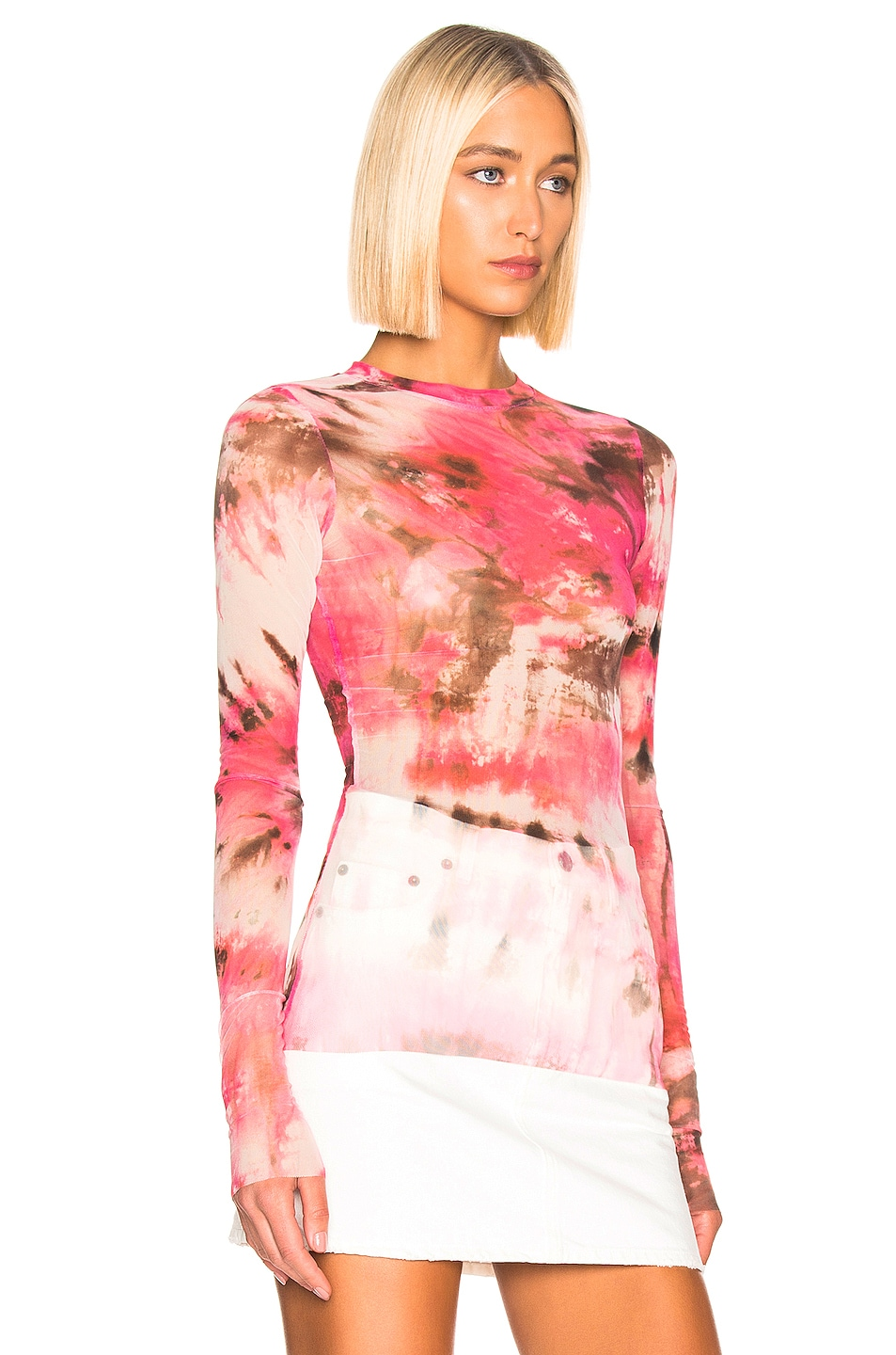 Image 2 of MSGM Sheer Blouse in Pink