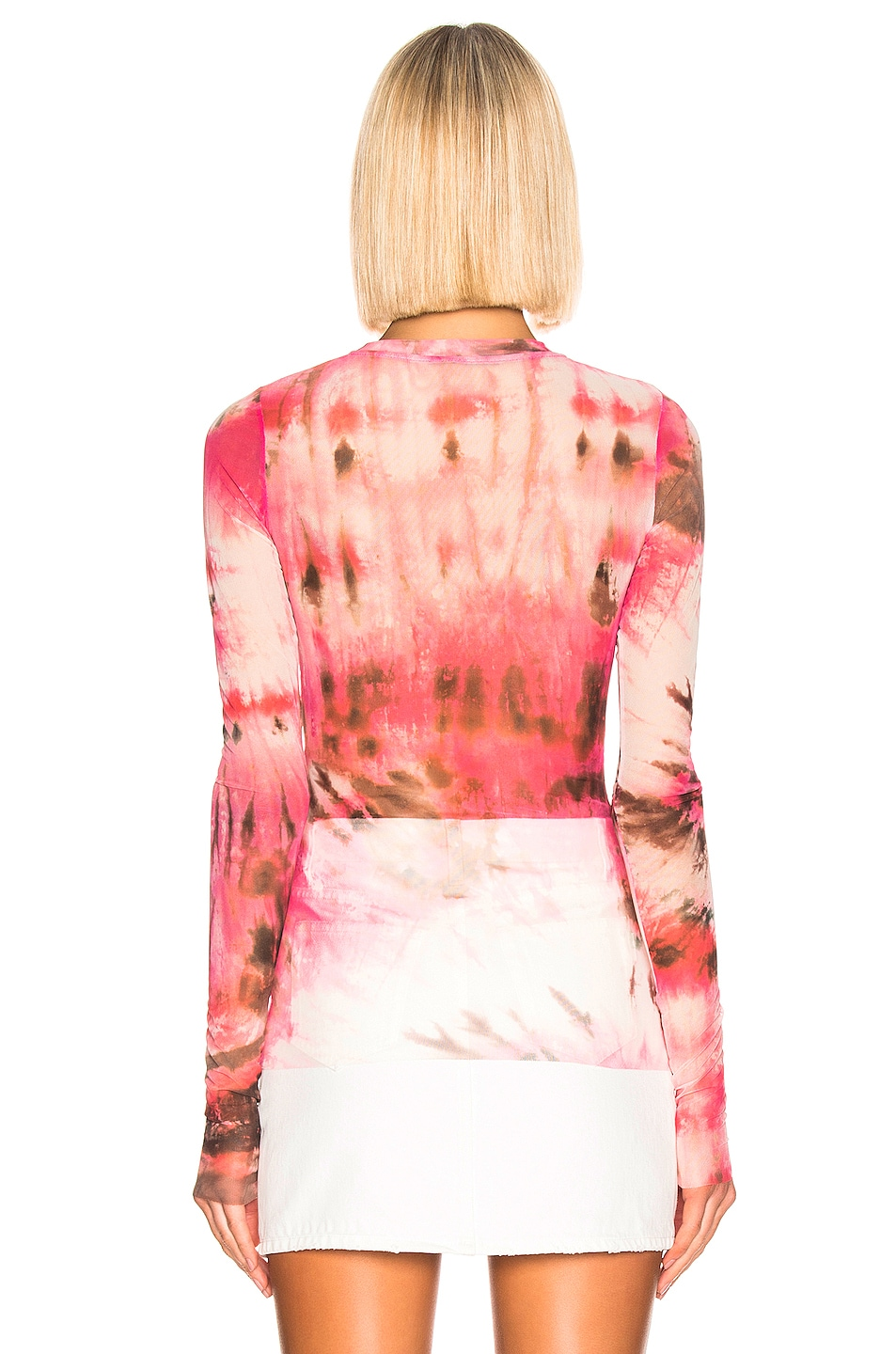 Image 3 of MSGM Sheer Blouse in Pink