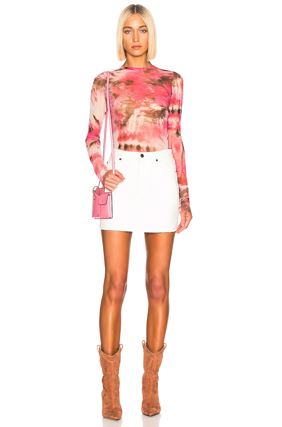 Image 4 of MSGM Sheer Blouse in Pink