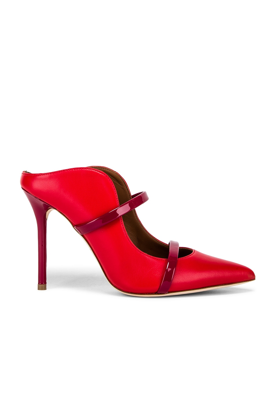 Image 1 of Malone Souliers Maureen Heel in Red & Burgundy