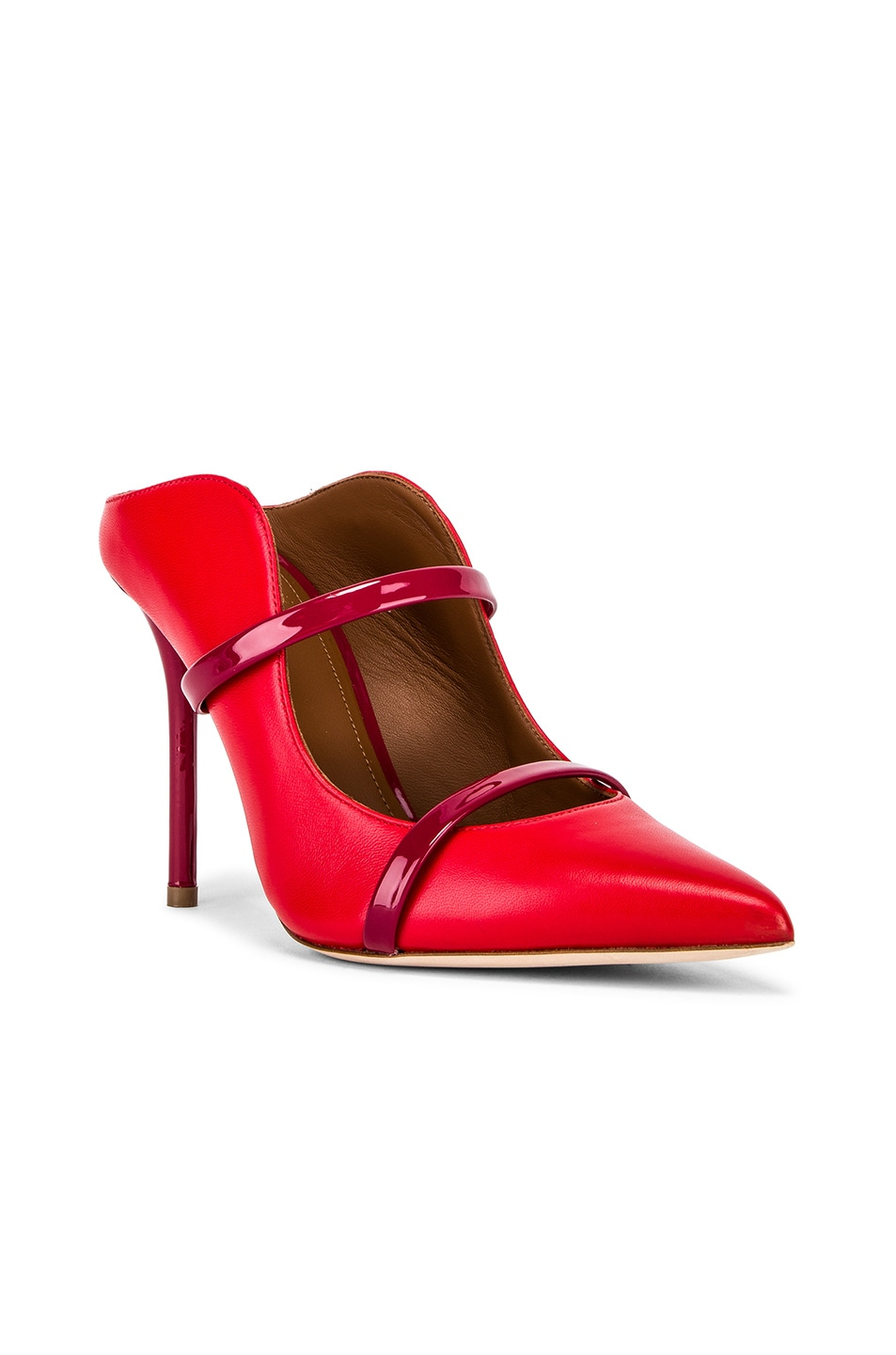 Image 2 of Malone Souliers Maureen Heel in Red & Burgundy