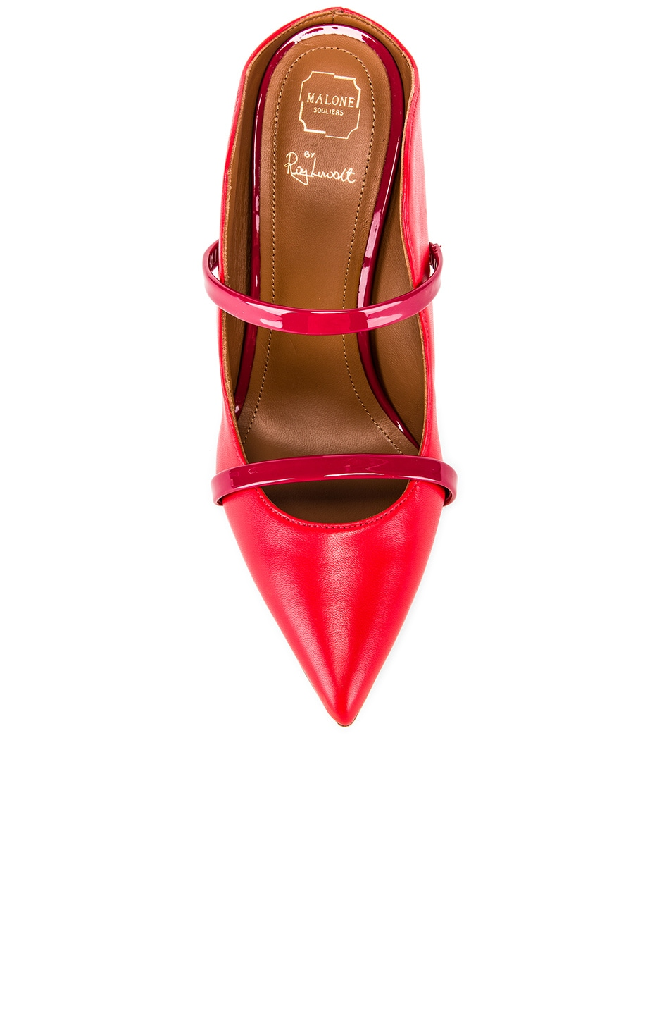 Image 4 of Malone Souliers Maureen Heel in Red & Burgundy