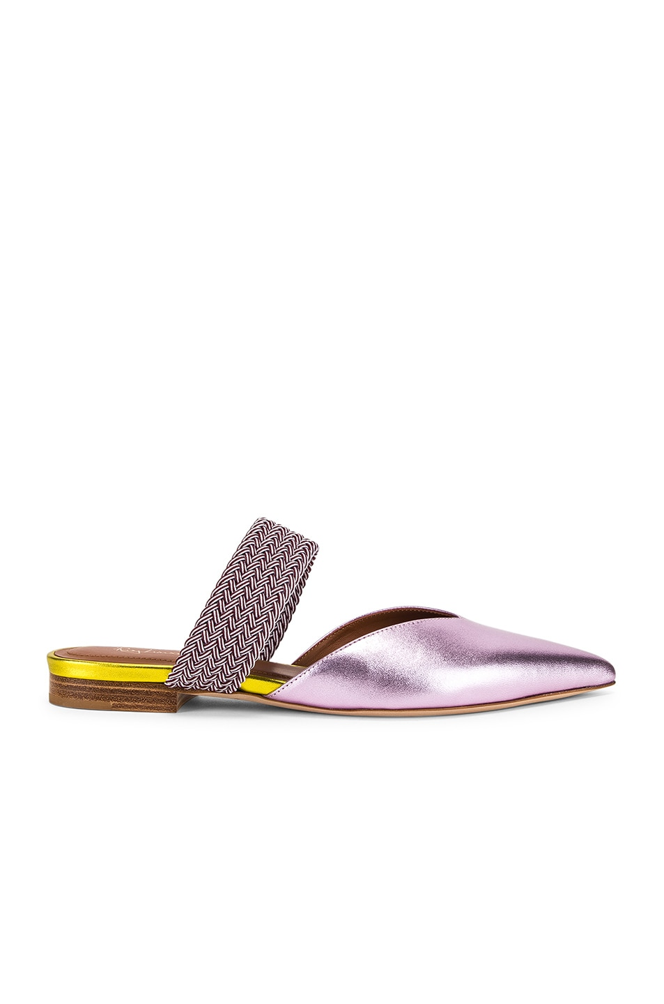 Image 1 of Malone Souliers Maisie Flat in Pink & Burgundy