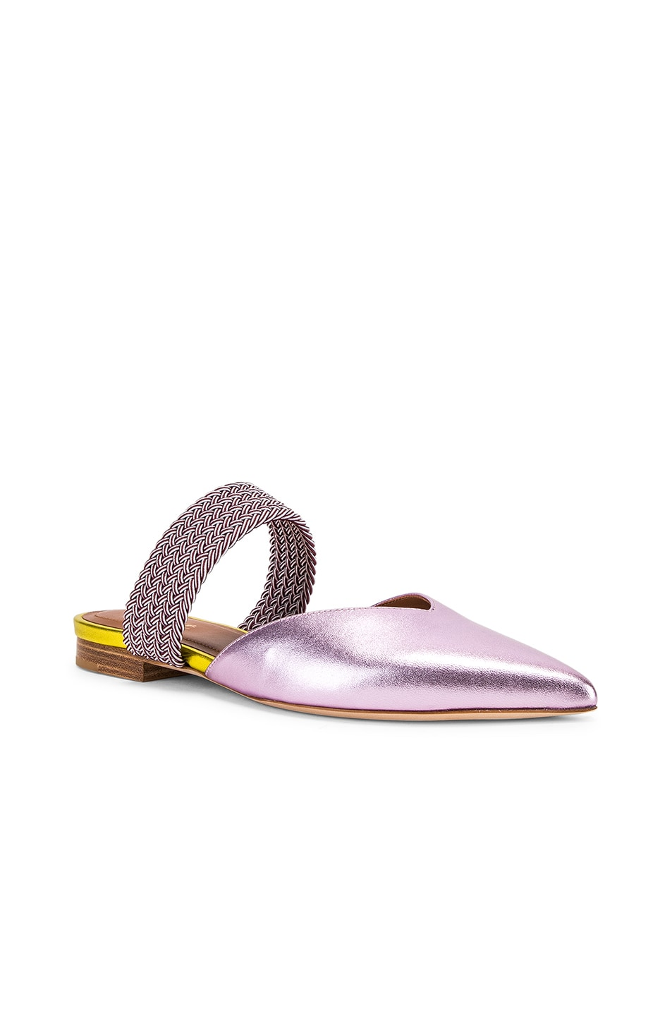 Image 2 of Malone Souliers Maisie Flat in Pink & Burgundy
