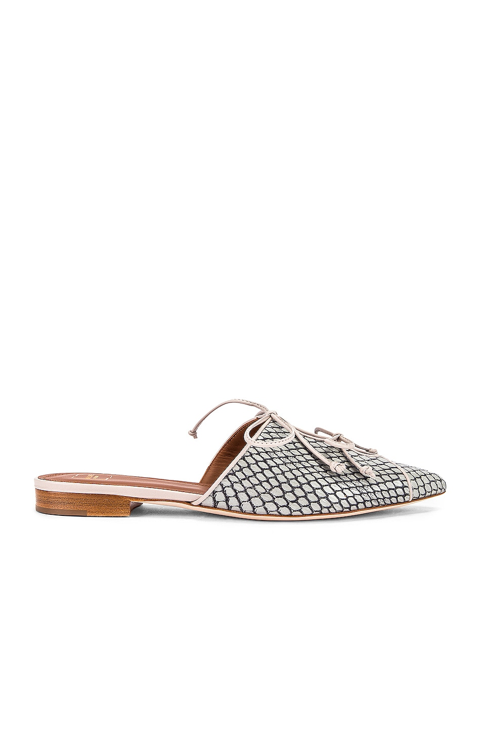 Image 1 of Malone Souliers Victoria MS Flat in Peppermint & Grey