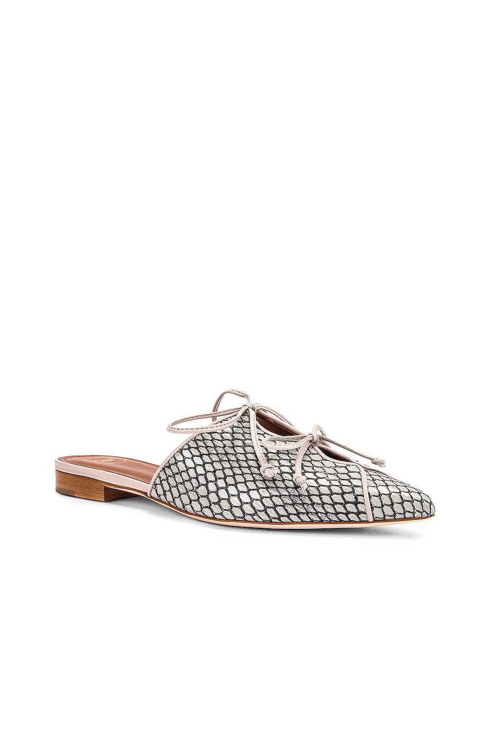 Image 2 of Malone Souliers Victoria MS Flat in Peppermint & Grey