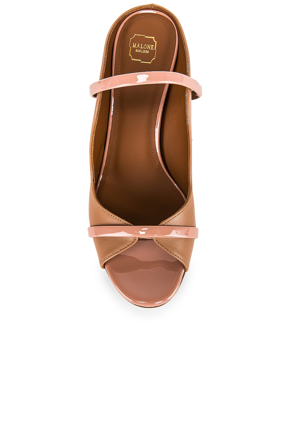 Image 4 of Malone Souliers Nora Heel in Nude & Blush