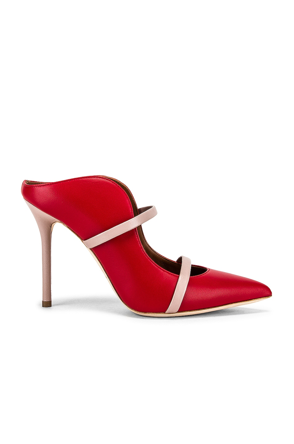 Image 1 of Malone Souliers Maureen MS 100 Heel in Red & Dusty Pink