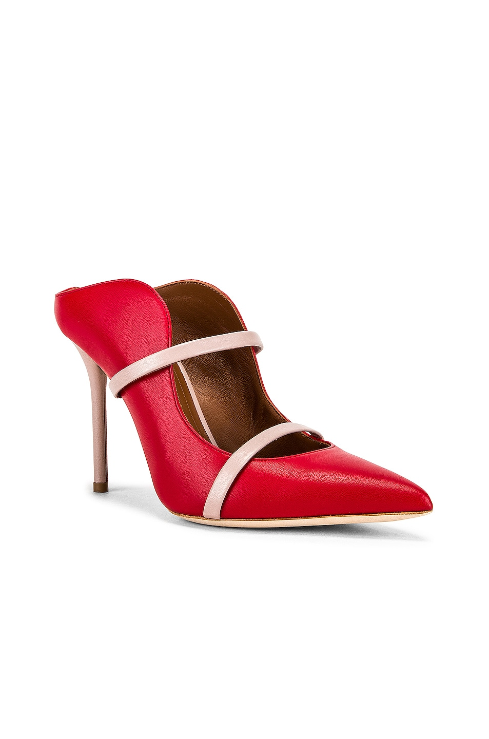 Image 2 of Malone Souliers Maureen MS 100 Heel in Red & Dusty Pink