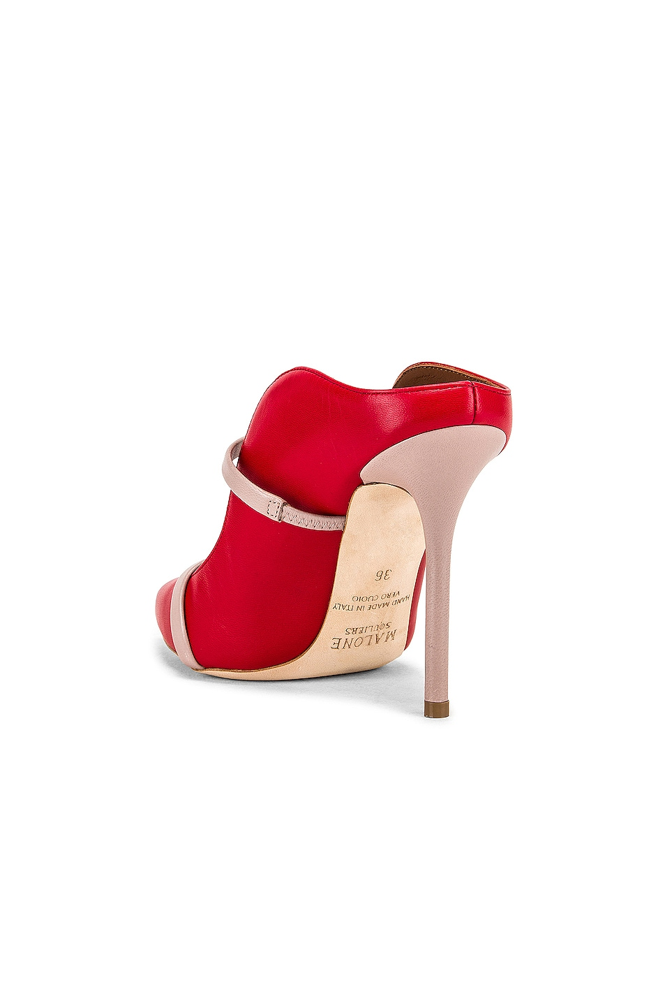 Image 3 of Malone Souliers Maureen MS 100 Heel in Red & Dusty Pink