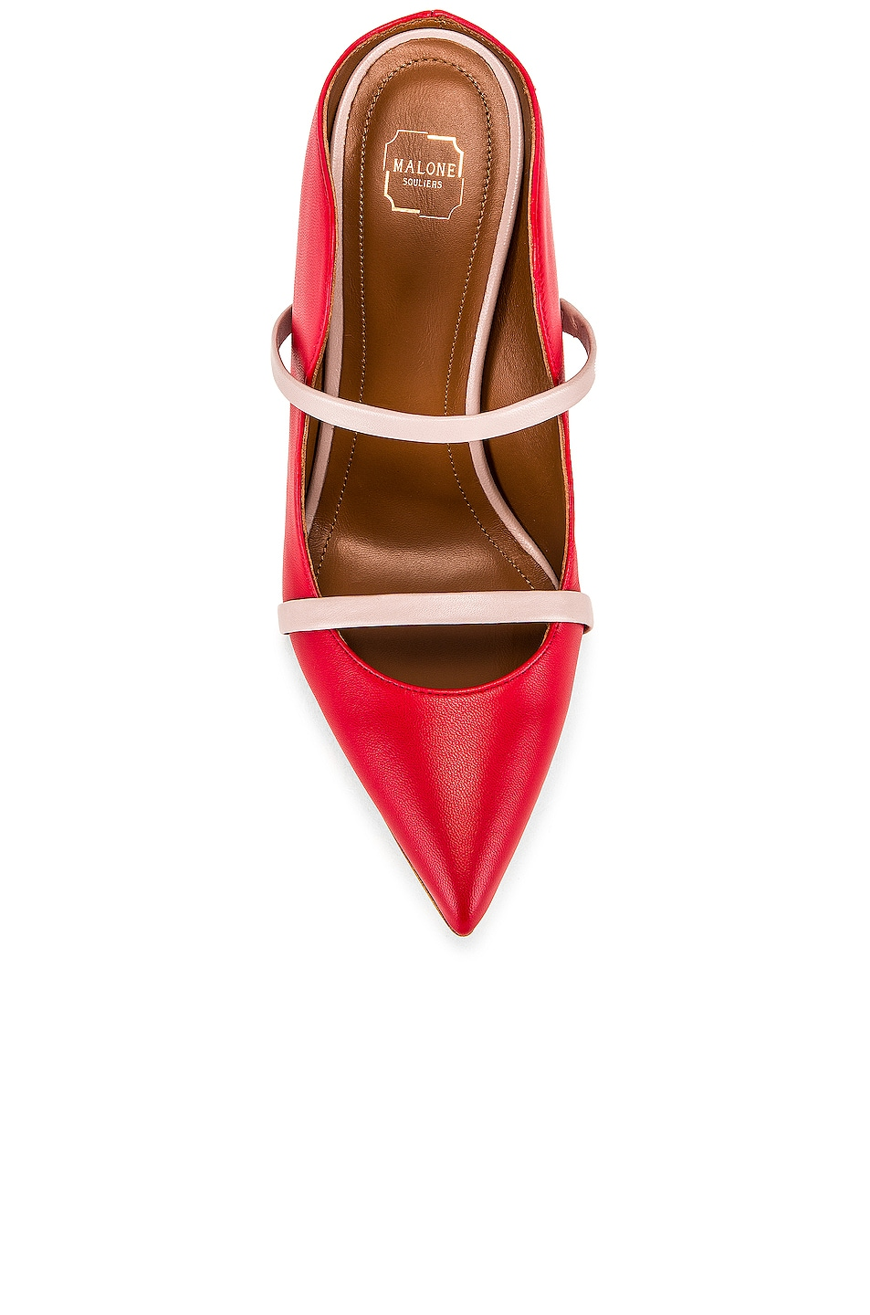 Image 4 of Malone Souliers Maureen MS 100 Heel in Red & Dusty Pink