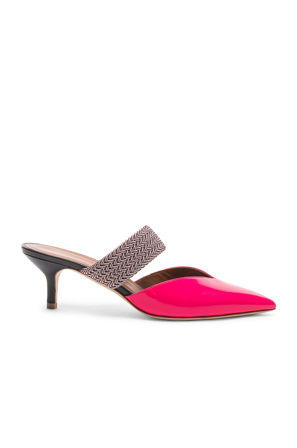 Image 1 of Malone Souliers Maisie Heel in Neon Pink, Burgundy & Navy