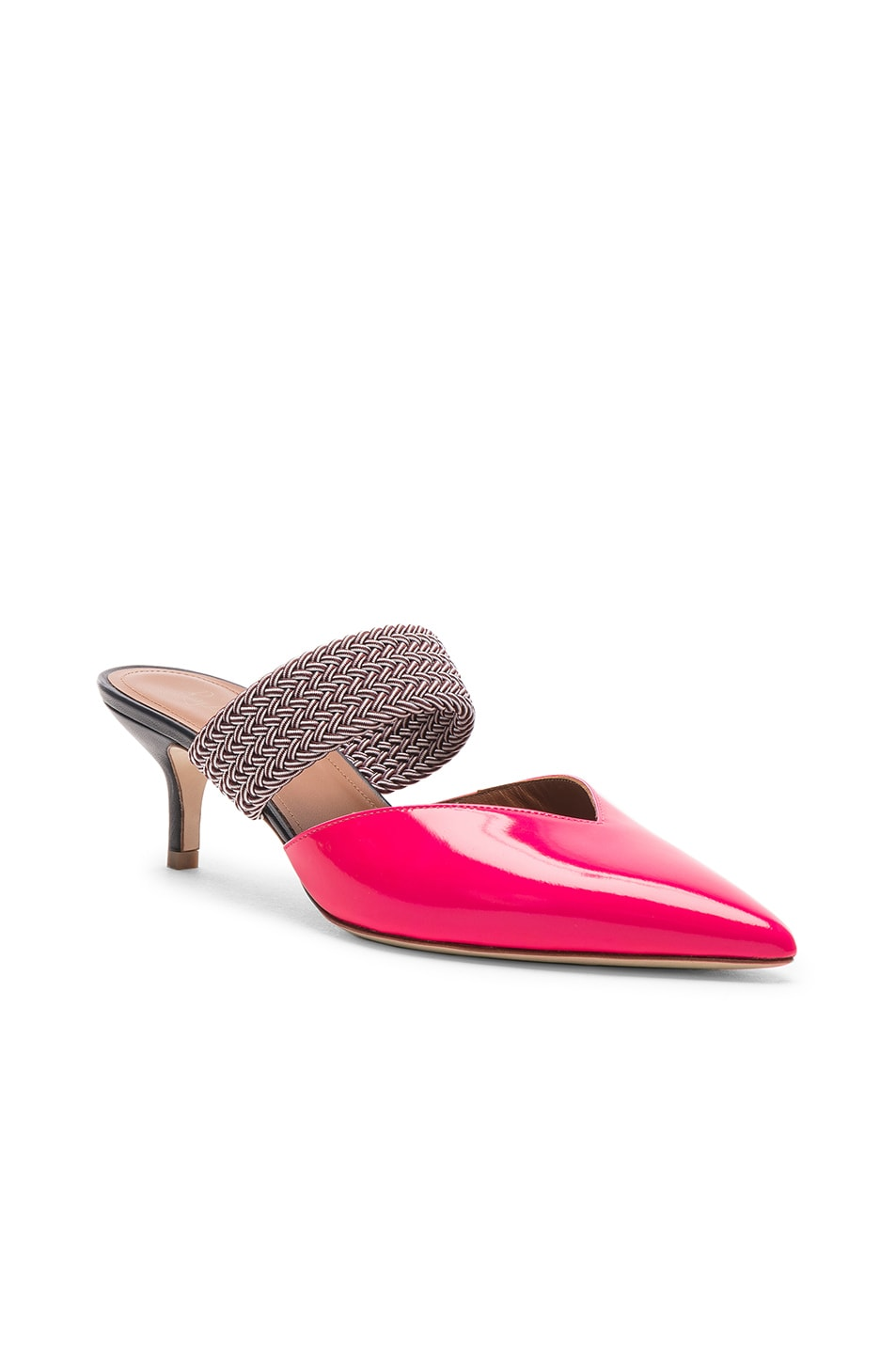 Image 2 of Malone Souliers Maisie Heel in Neon Pink, Burgundy & Navy