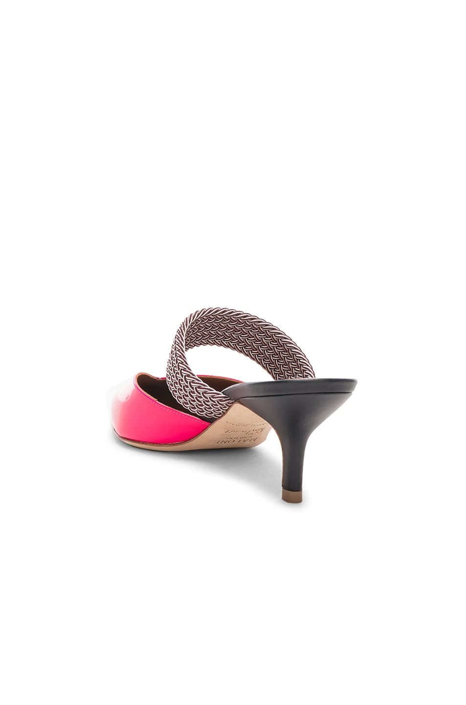 Image 3 of Malone Souliers Maisie Heel in Neon Pink, Burgundy & Navy
