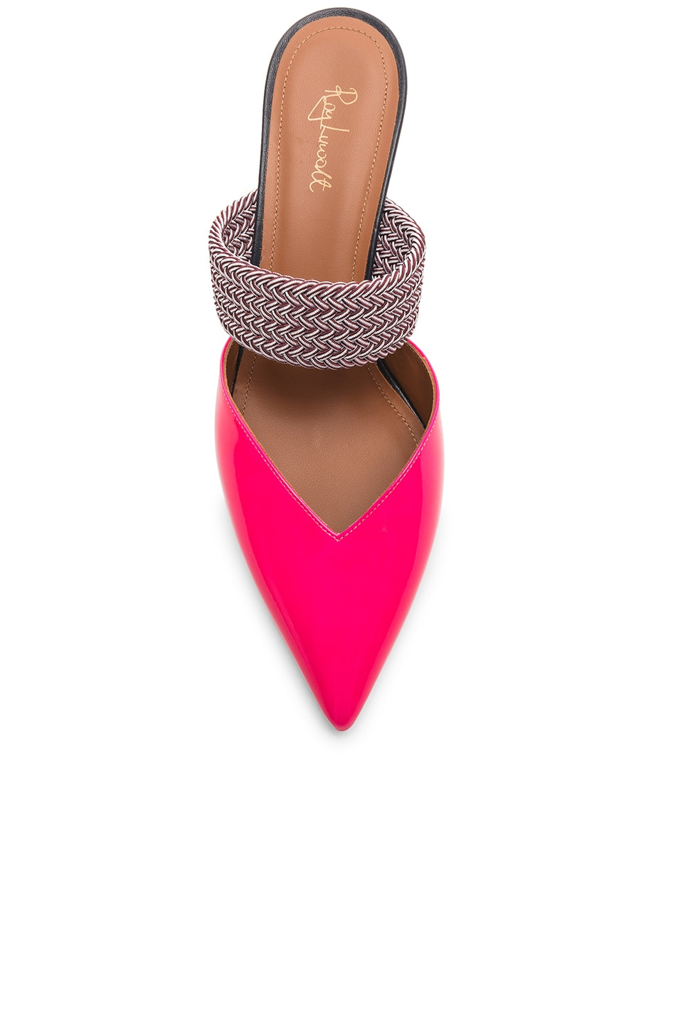 Image 4 of Malone Souliers Maisie Heel in Neon Pink, Burgundy & Navy