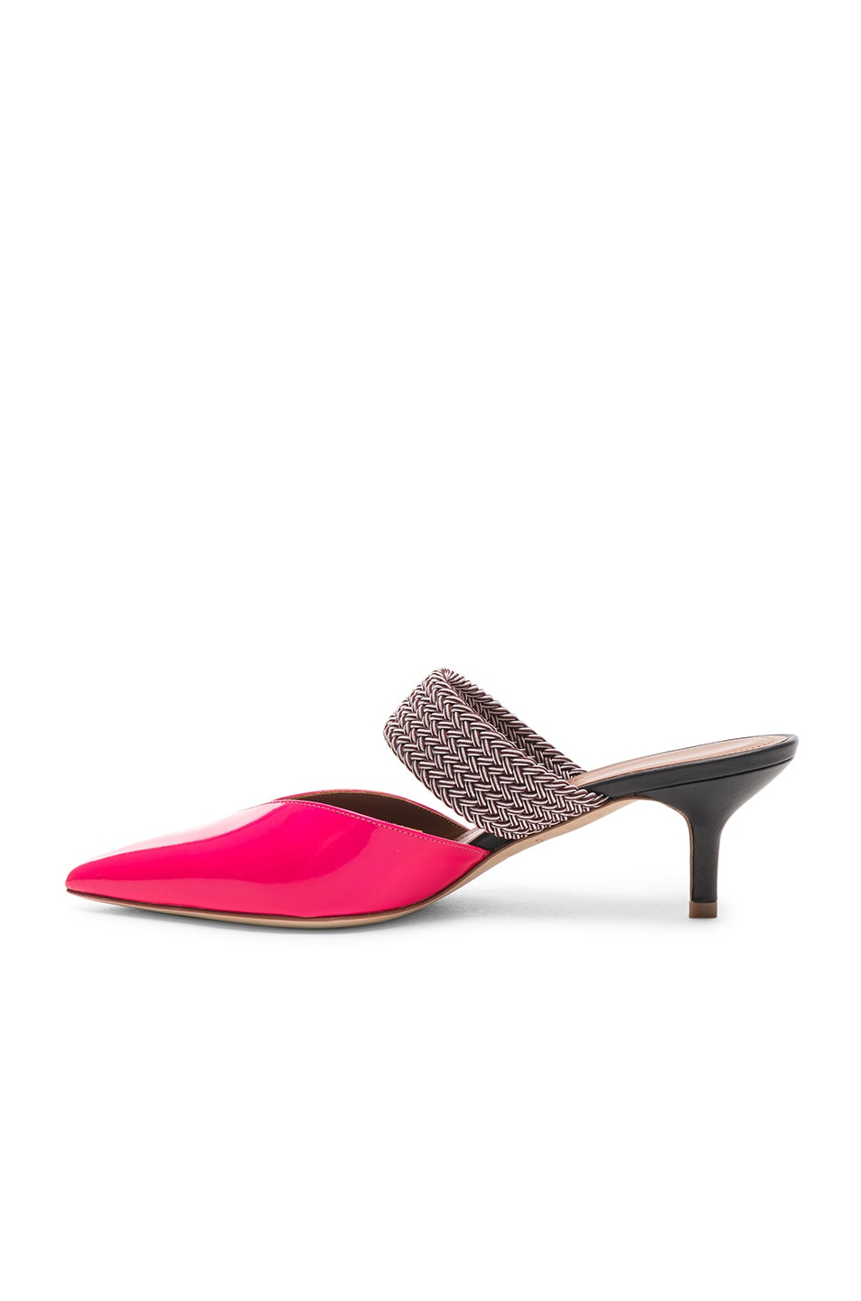 Image 5 of Malone Souliers Maisie Heel in Neon Pink, Burgundy & Navy