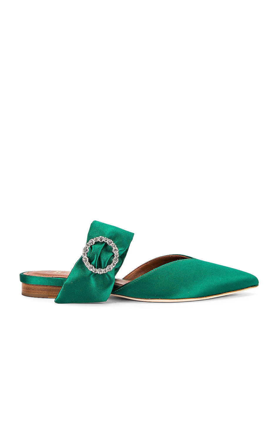 Image 1 of Malone Souliers Maite Crystal MS Flat in Emerald