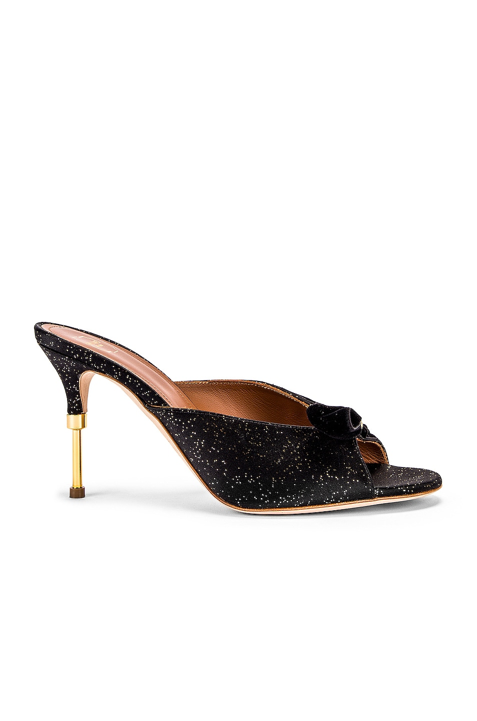 Image 1 of Malone Souliers Paiige 85 Heel in Black & Gold