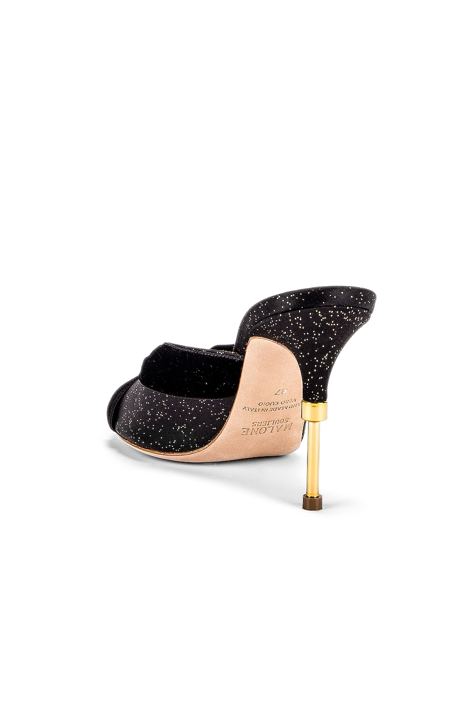 Image 3 of Malone Souliers Paiige 85 Heel in Black & Gold