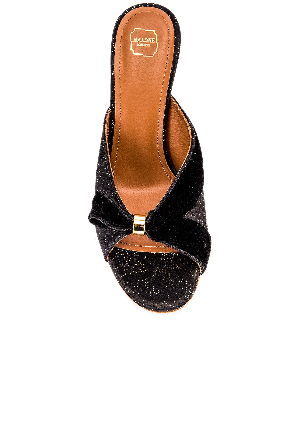 Image 4 of Malone Souliers Paiige 85 Heel in Black & Gold