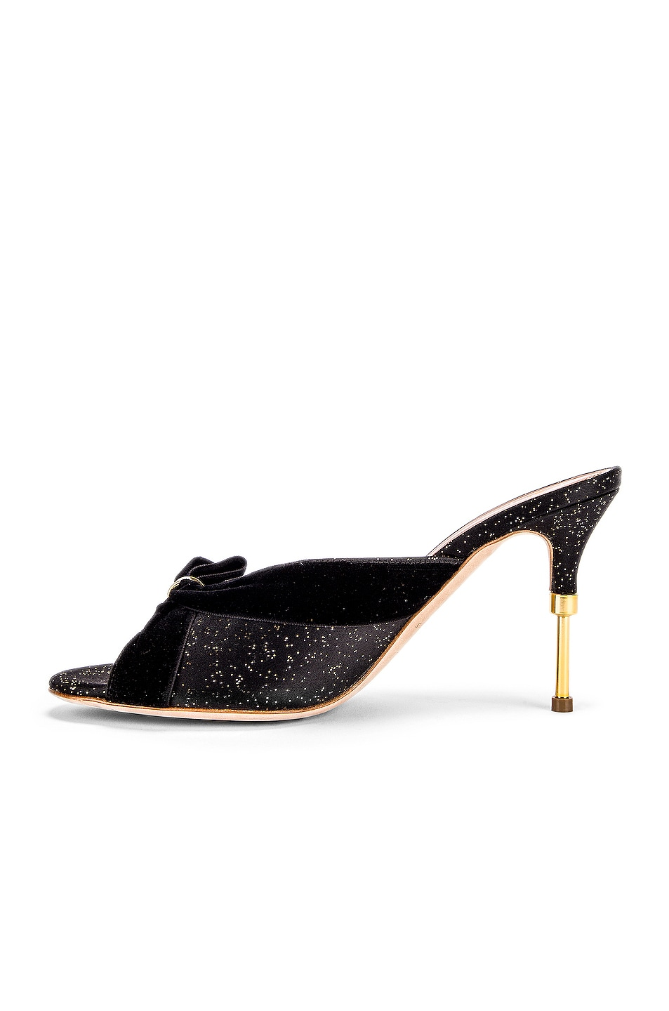 Image 5 of Malone Souliers Paiige 85 Heel in Black & Gold