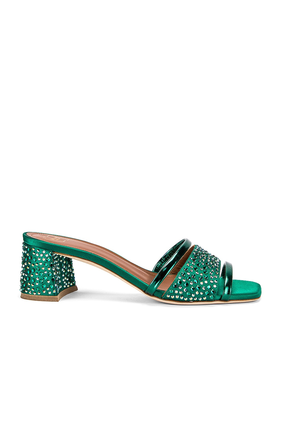 Image 1 of Malone Souliers Rosa 45 Mule in Emerald Green