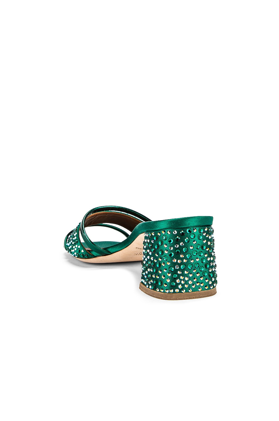 Image 3 of Malone Souliers Rosa 45 Mule in Emerald Green